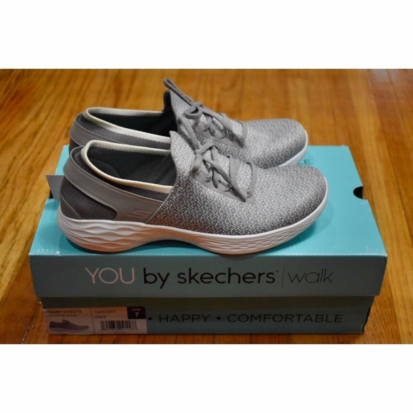 Skechers Shoes | Ladies Knit Slip